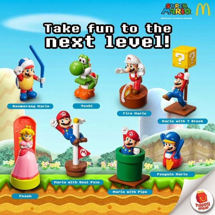Mcdonald's Happy Meal Super Mario Toys, Philippine promo, McDonalds Philippines