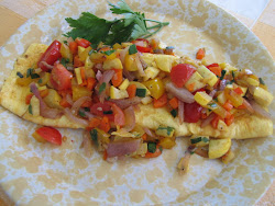 Egg Beater Omlet with Fresh Vegetable Salsa