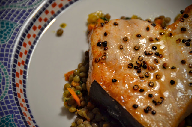 Swordfish with Cracked Pepper | Cheesy Pennies