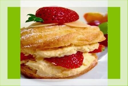 Resep dan Cara Membuat Kue Sus Strawberry Vla