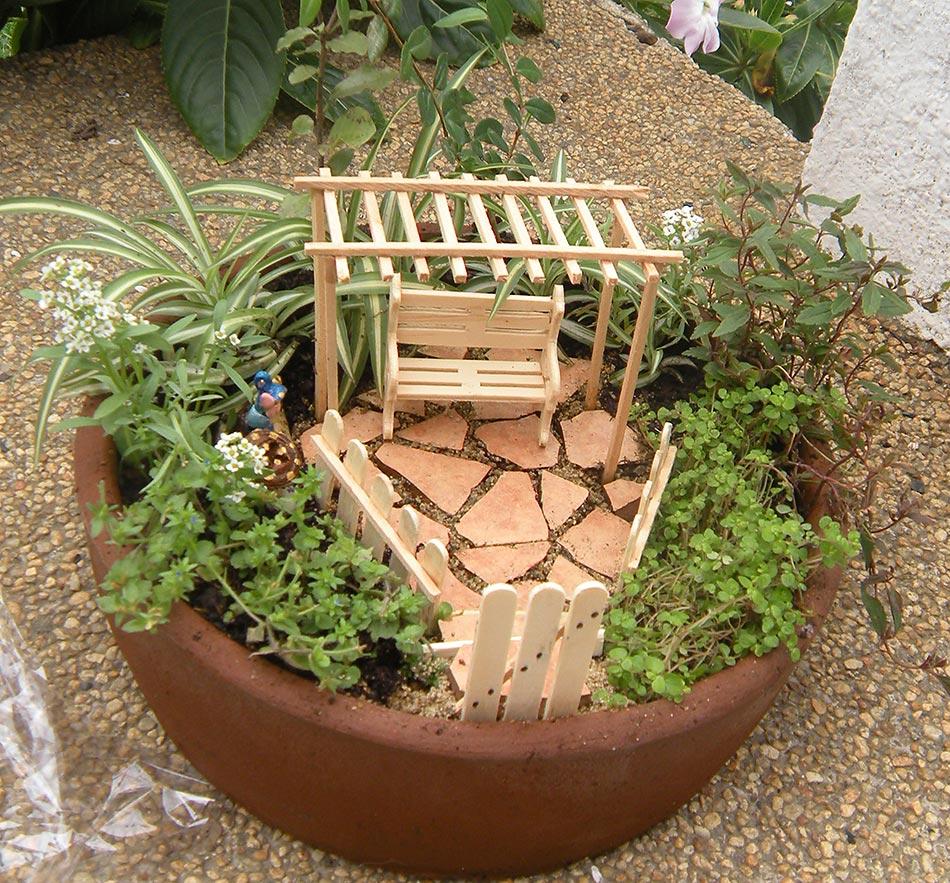 Tiempo jardin jardin en miniatura - Arreglo de jardines ...