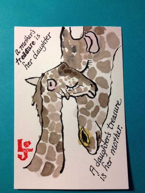 giraffe etegami