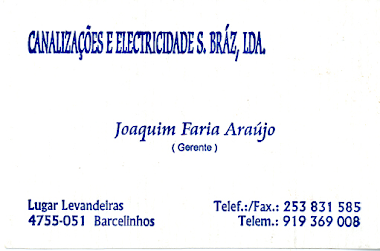 Canalizaes e Eletricidades S.Brz, Ld - Barcelinhos