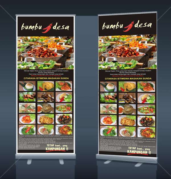 Contoh Design X Banner Makanan