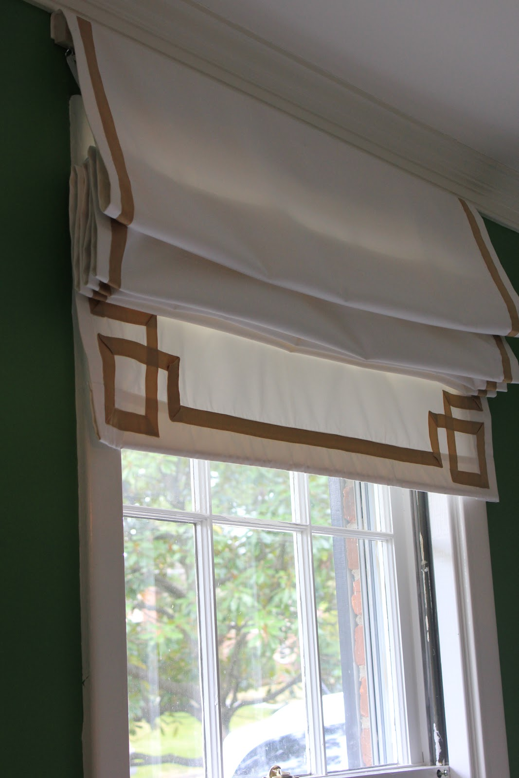 westhampton diy how to make a roman shade from a curtain. Black Bedroom Furniture Sets. Home Design Ideas