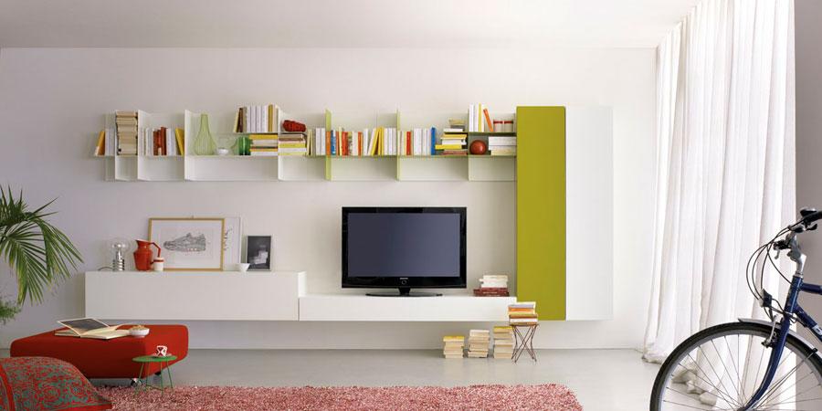 Bricolage e Decoração: Ideias de Estantes Modernas para a Sala de ...