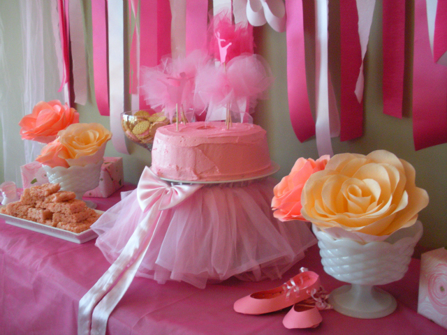 Ballerina birthday party ideas ballerina birthday party for Ballerina party decoration ideas