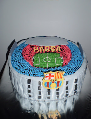 tarta del estadio nou camp