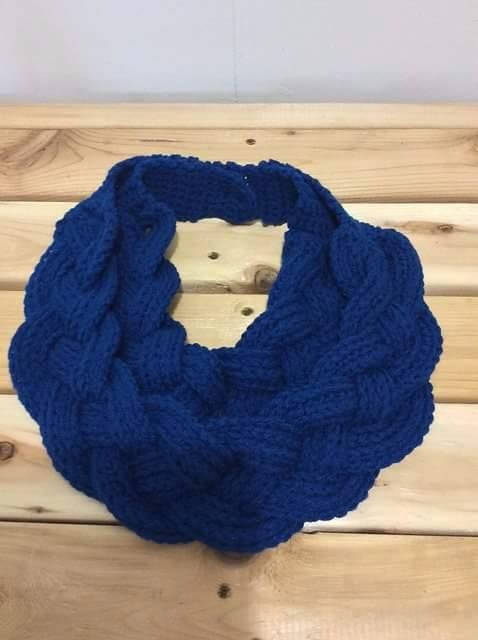 Tinas handicraft : Double Layered Braided Cowl Free Crochet Pattern wi...