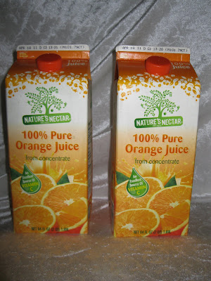 nature's nectar orange juice Aldi
