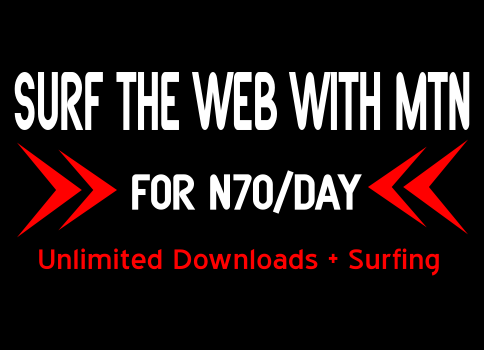 MTN unlimited download for 70#