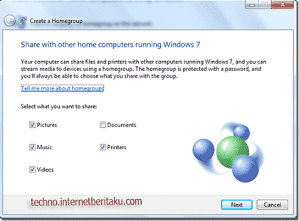 Share homegroup windows 7