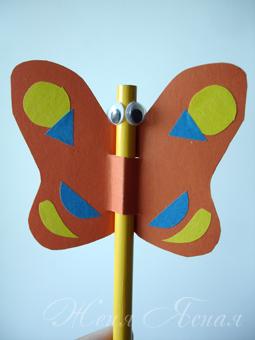 Бабочка для малышей поделка 79
