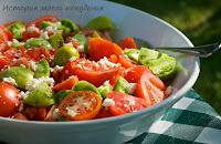 Помидорный салат с брынзой