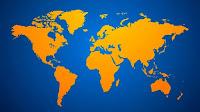 Orange world map (Credit: Shutterstock) Click to Enlarge.