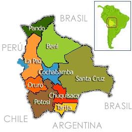 Bolivia, división territorial