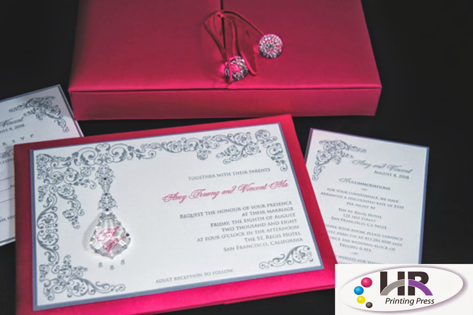 Amazing Wedding Invitation Printers London Crest - Invitation Card ...