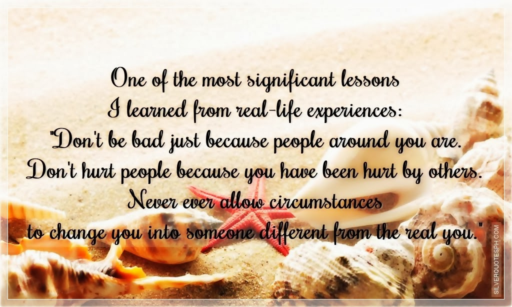 one of the most significant lessons i learned from real
