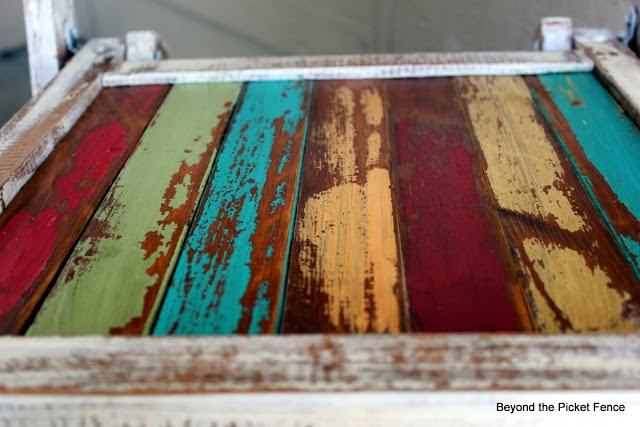 colorful scrap, reclaimed wood projects http://bec4-beyondthepicketfence.blogspot.com/2014/01/tasty-colorful-wood-cravings.html
