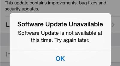 Pengguna iOS Keluhkan Download Error Saat Update iOS 7.1.1