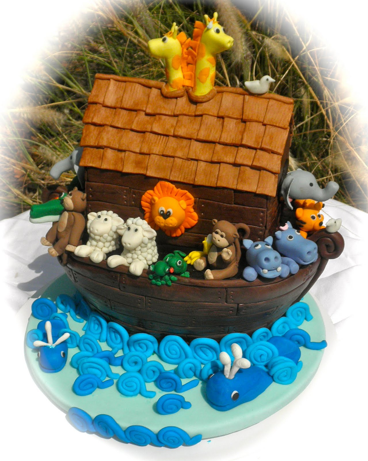 sweet t 39 s cake design noah 39 s ark baby shower cake