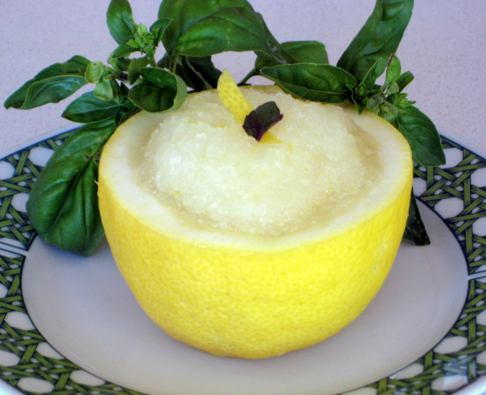 Lexi's Kitchen: LEMON BASIL SORBET