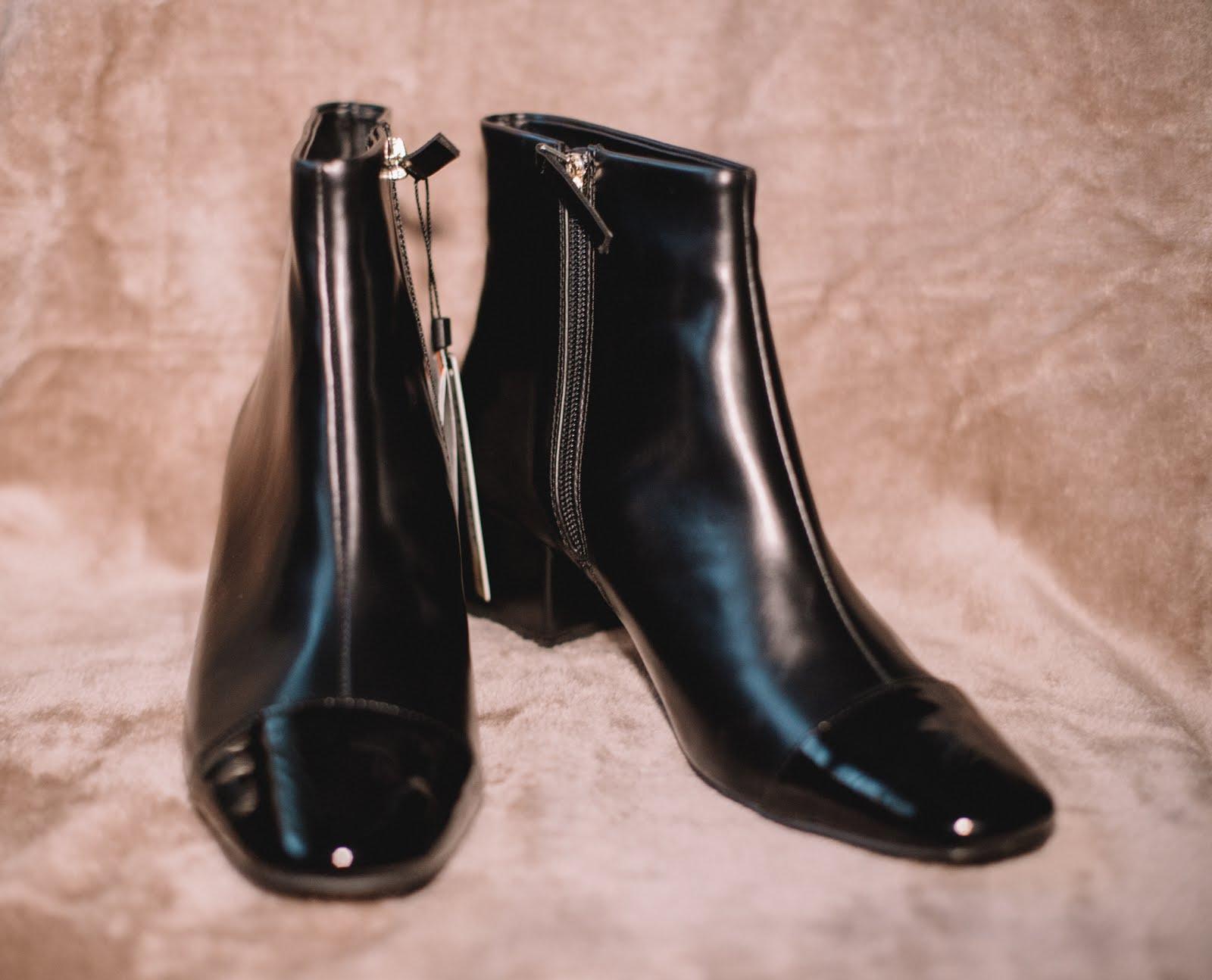 zara botins ankle boots pretos black saldos sales the paper and ink