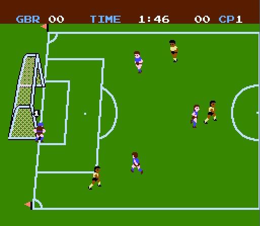 video game screenshots depot  soccer  nes    famicom