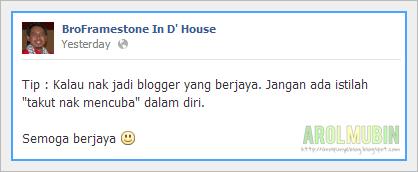 tips blogger berjaya, bro framestone, blogger otai