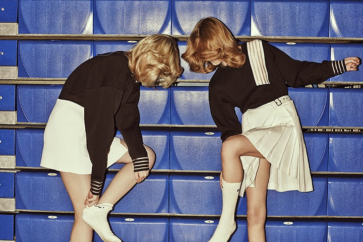 Vintage style sports luxe photoshoot