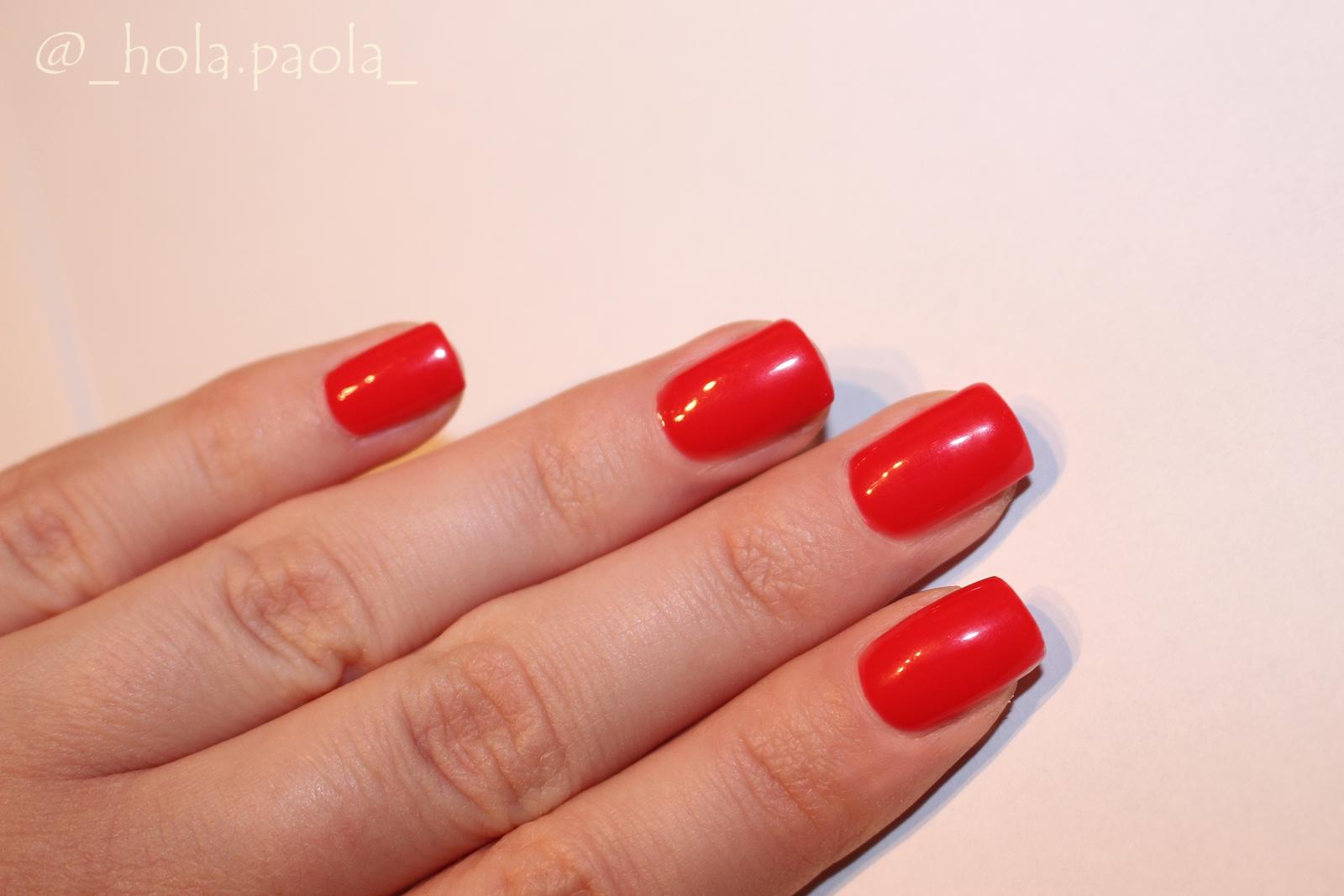Semilac Lakier hybrydowy 134 Red Carpet Semilac 071 Deep Red sexy red hybrydy czerwony kolor paznokci lakier czerwony malinowy lakier idealna czerwień essie fidth avenue dupe