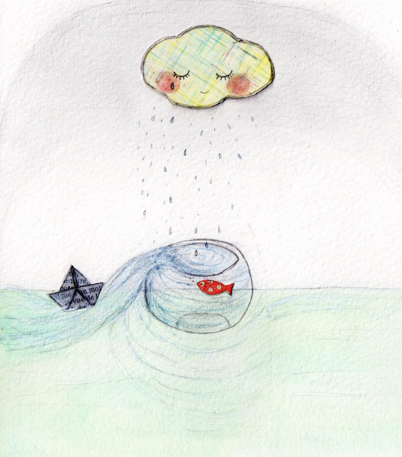 Baptistine mesange juillet 2012 for Bocal poisson rouge