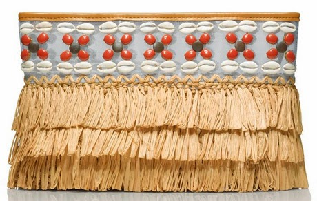 tory burch straw fringed clutch
