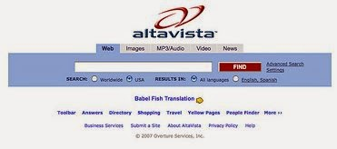 Altavista search engine