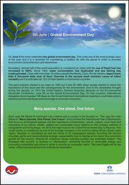 Folleto - Concientización cuidado del medio ambiente | Imagen y