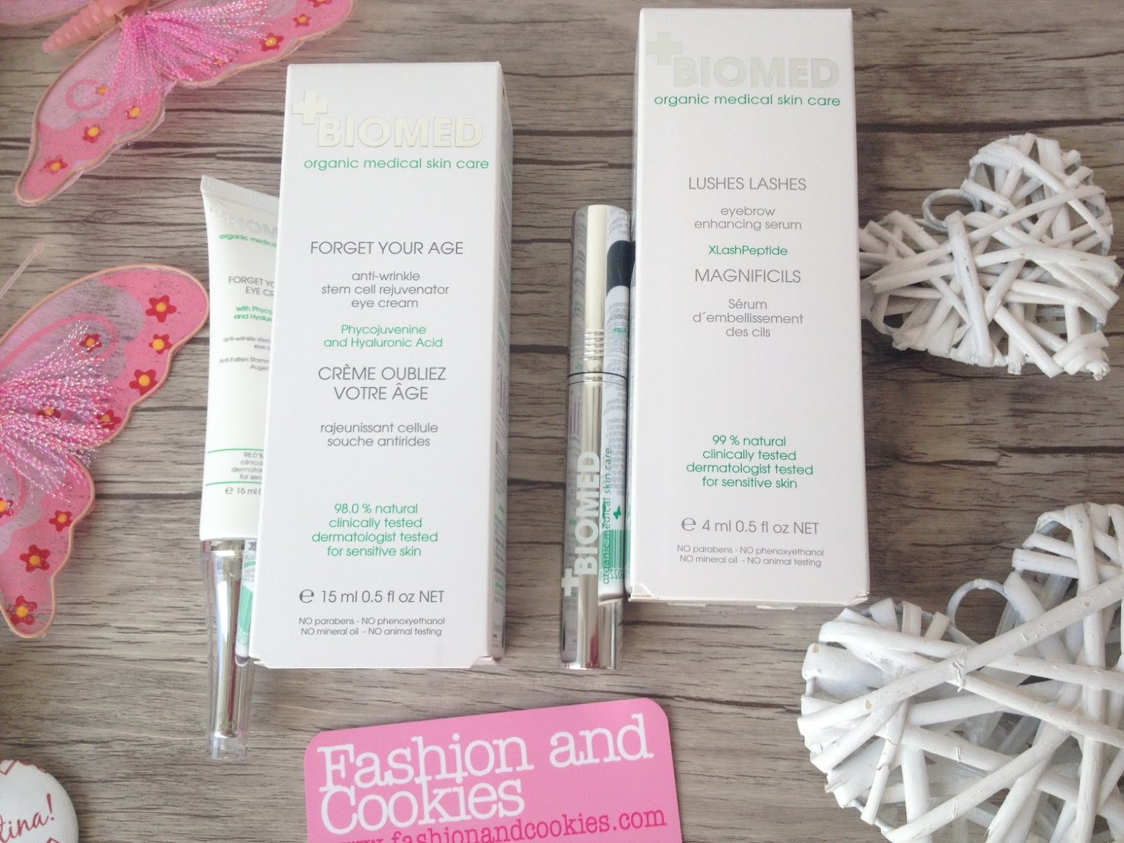 Biomed Organic Skincare review, Biomed Forget your age cream and serum, lushes lashes presentation and review on Fashion and Cookies fashion blog