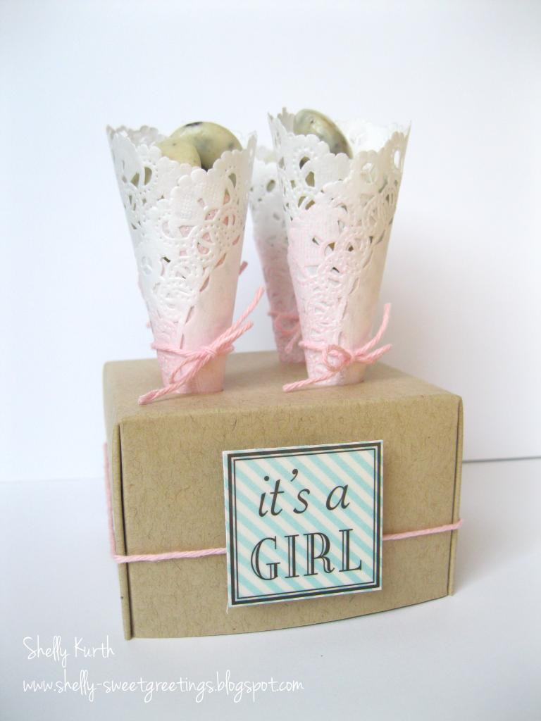 SRM Stickers Blog - Doily Treats by Shelly - #doilies #stickers #favors #baby #twine