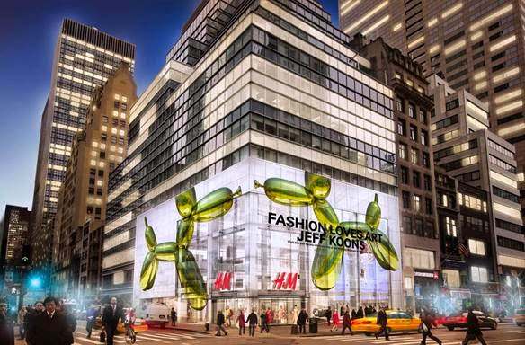 H&M Partners With The Whitney Museum Of American Art and Artist Jeff Koons To Celebrate Opening of the New 5th Avenue Flagship.