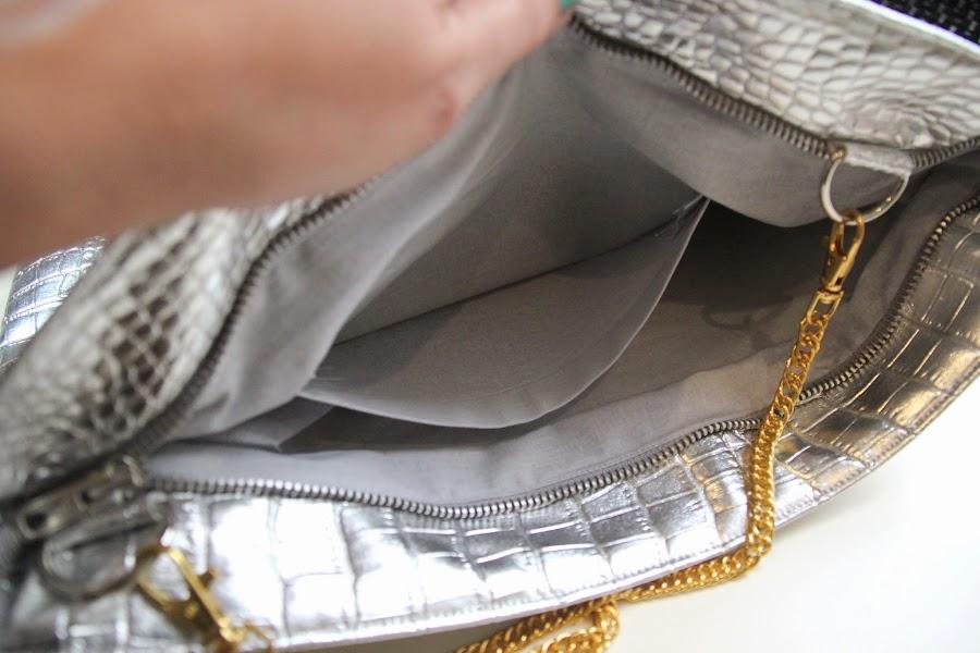 Diy bolso plateado con asa dorada manualidades - Como hacer bolsos con salvamanteles ...