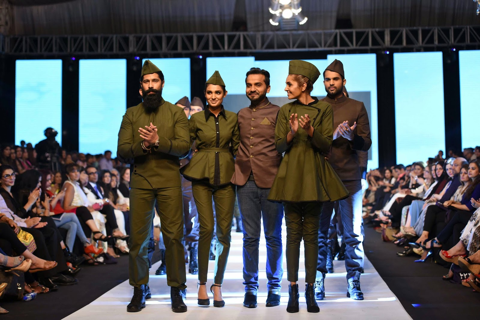 Emraan Rajput at the end of his show with the models