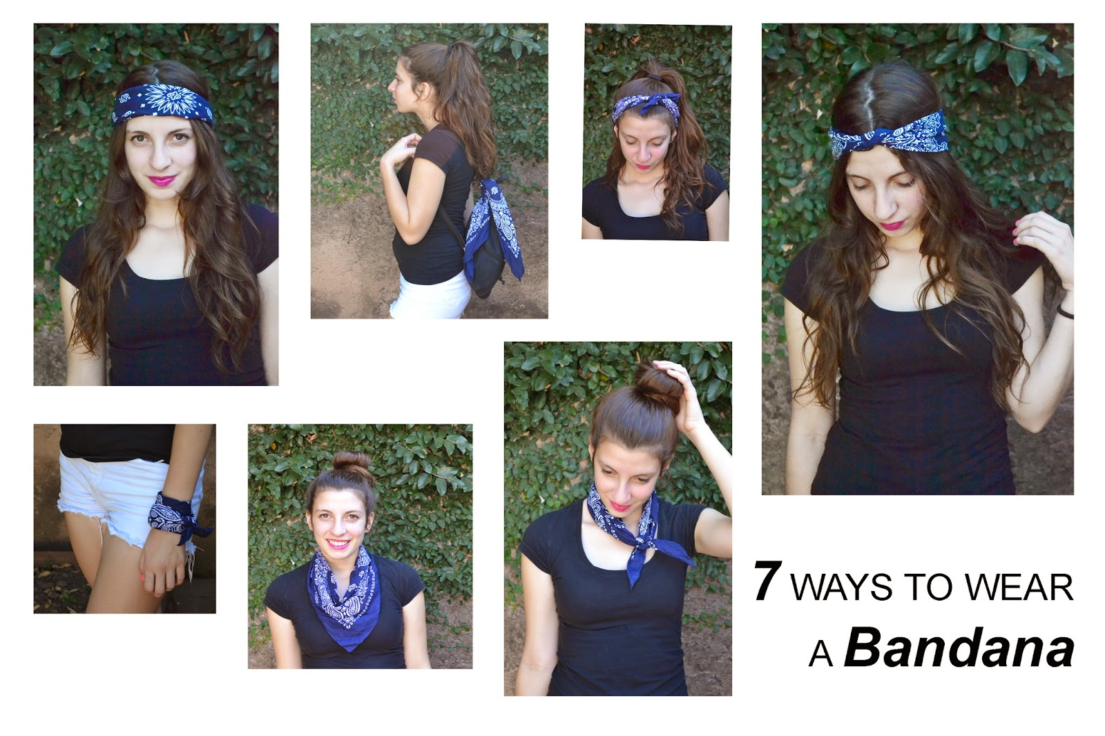 how to fix your hair with a bandana