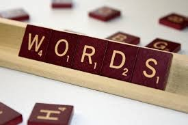 "Scrabble tiles spelling out the word ""Words"""