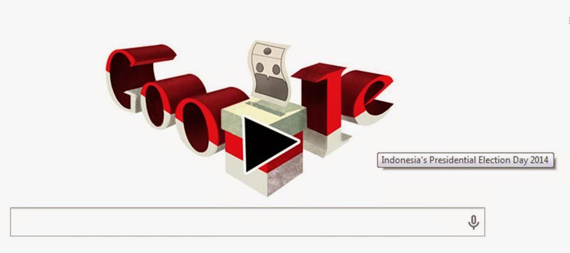 google doodle pemilu indonesia 2014