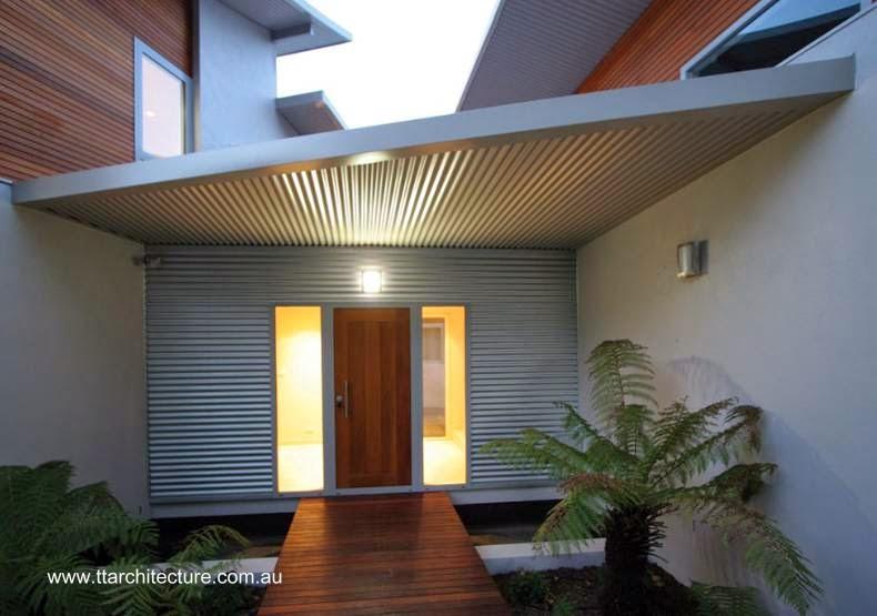 arquitectura de casas casa doble moderna de techos curvos