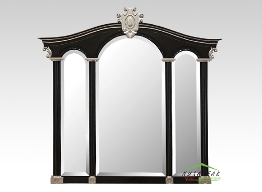 Classic Wall Mirror Campbell in Black Finish
