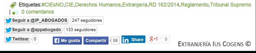 Extranjería Ius Cogens: redes sociales.