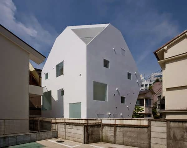 Tokyo Unusual House Design Plan Takes Modern Minimalist To The Next Level  With A Clean White ...