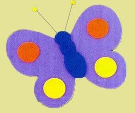 Imã de borboleta de E.V.A