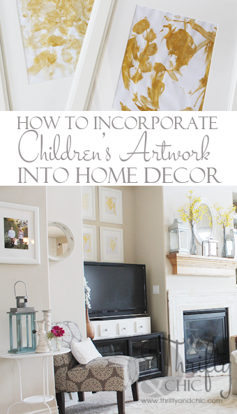 How to incorporate children's art into cute home decor pieces!