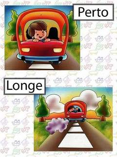 Opostos: Perto / Longe